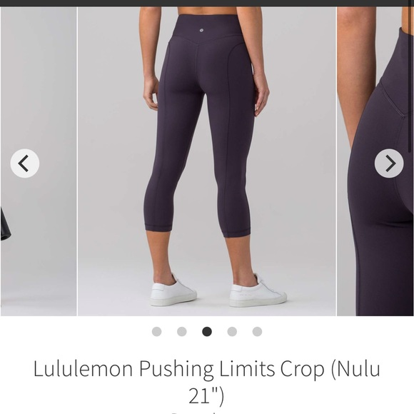 "Lululemon Pushing Limit Crop 21"" Nulu align fabric"
